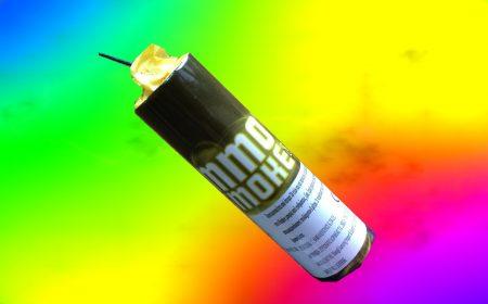 Καπνογόνο με φιτίλι κίτρινου χρώματος