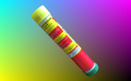Βεγγαλικό καπνού χειρός κίτρινου χρώματος